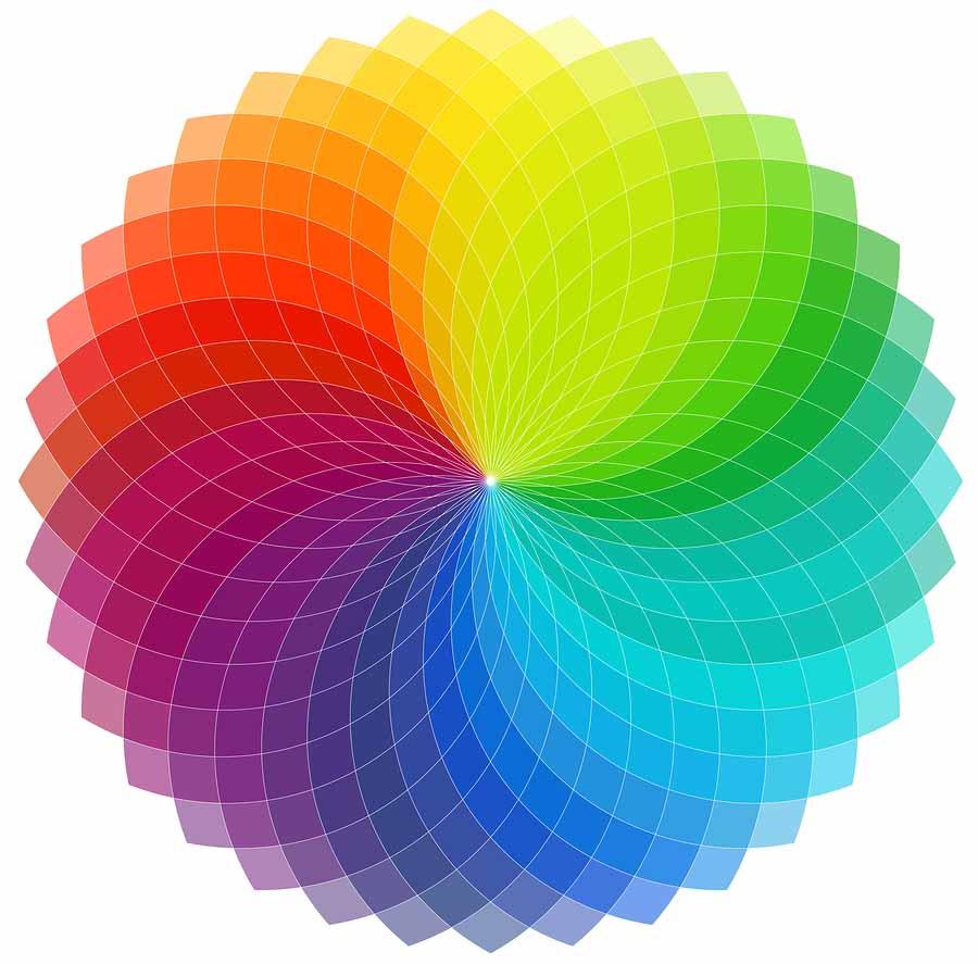 Color Wheel Background: Color wheel background with transparent overlapping segments