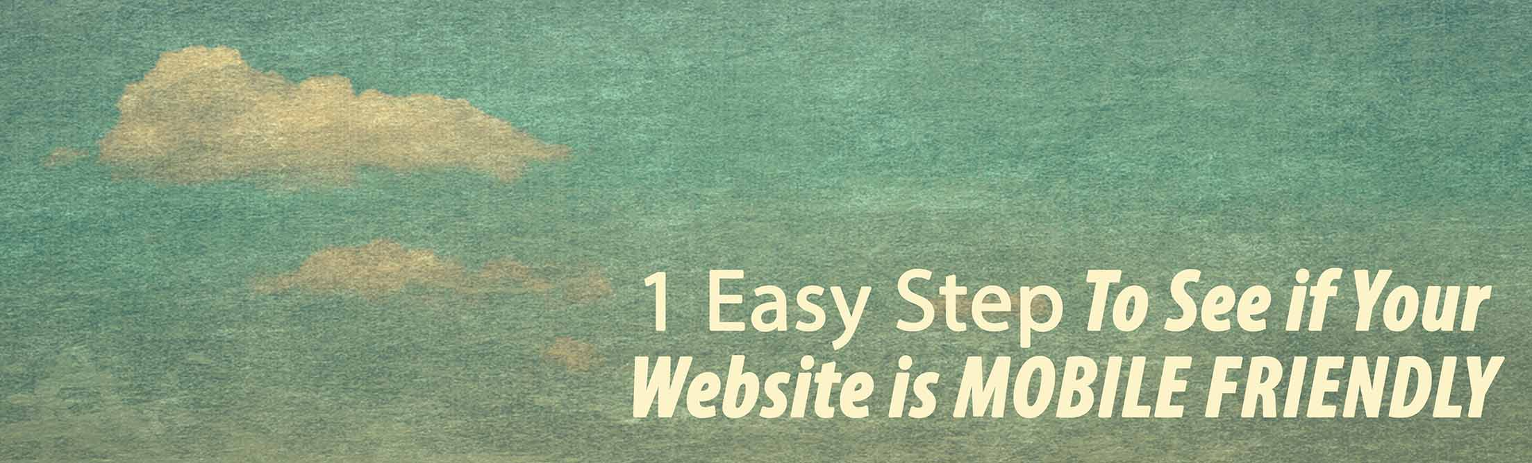 Is my website mobile friendly. 1 easy step to tell...