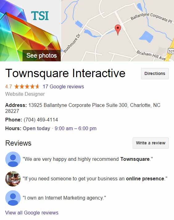 Townsquare GMB Page