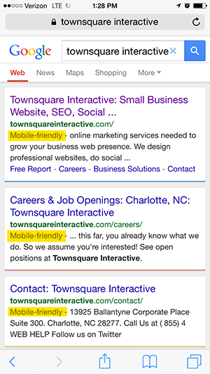 Mobile-Friendly Showing Up in Search Results