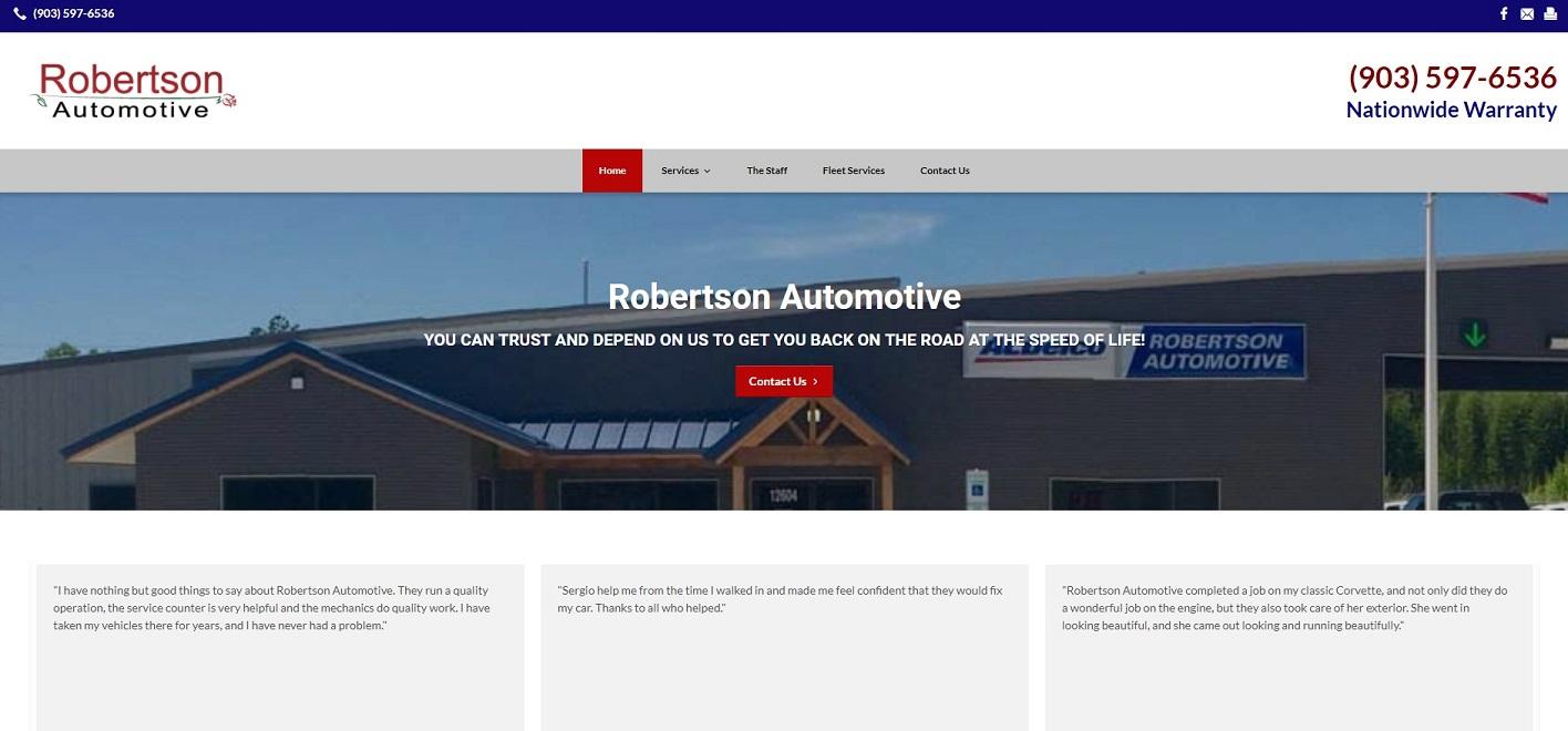 robertson automotive