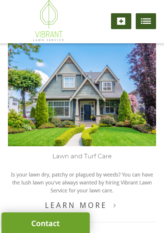 Vibrant Lawn Service Mobile Friendly Landscaping Website