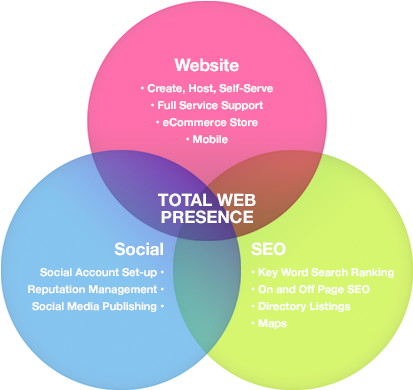 Total Web Presence Diagram